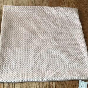 Large rose blush textured velvet pillow sham cover